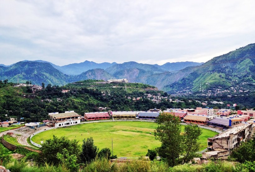 Narol Cricket Stadium in Muzzaffarabad the capital of Azad Kashmir.